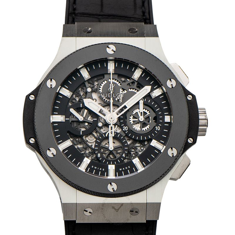 Hublot Big Bang Chronograph Automatic Black Skeleton Dial Stainless Steel Men's Watch