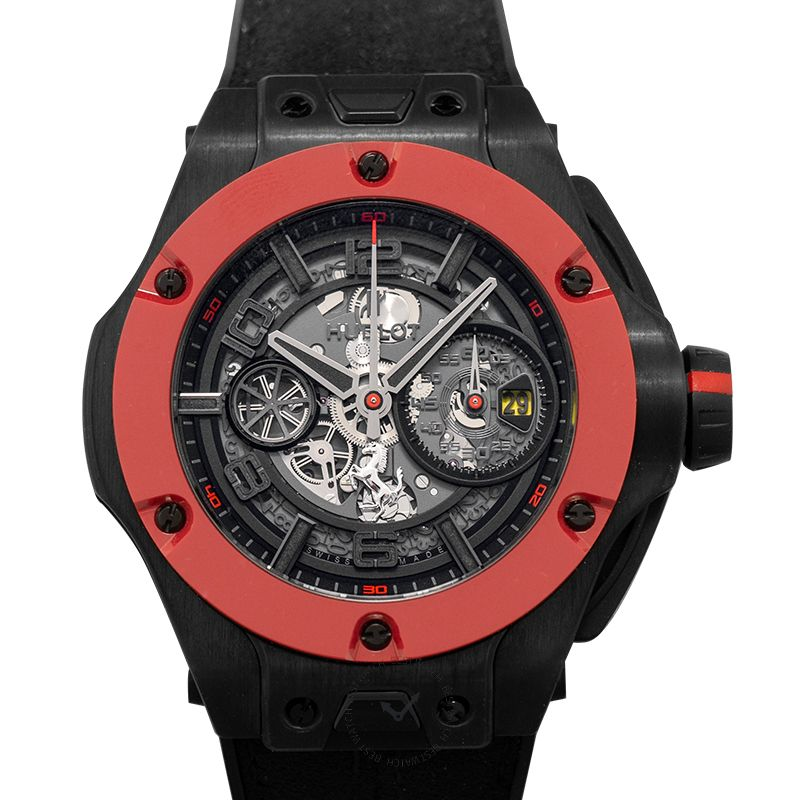 Hublot Big Bang Ferrari Unico Carbon Red Ceramic Automatic Black Dial Men's Watch