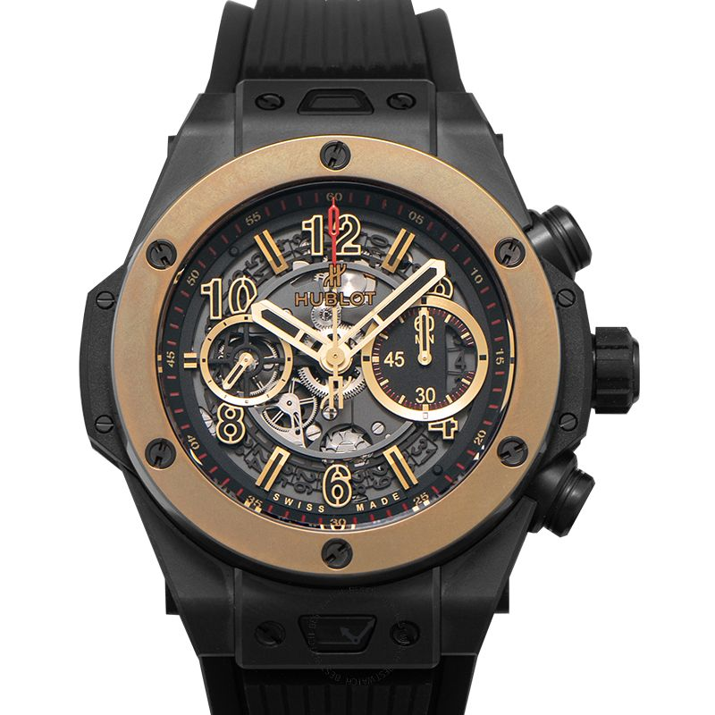 Hublot Big Bang Unico Magic Gold Automatic Skeleton Dial Black Ceramic Men's Watch