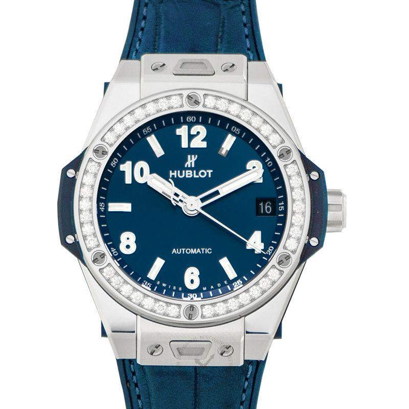 Hublot Big Bang One Click Steel Blue Diamonds Automatic Blue Dial Steel Ladies Watch