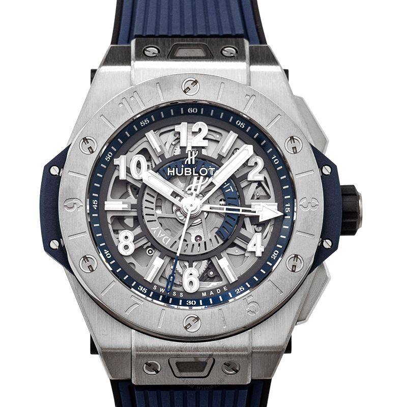 Hublot Big Bang Unico GMT Titanium Automatic Blue Dial Men's Watch