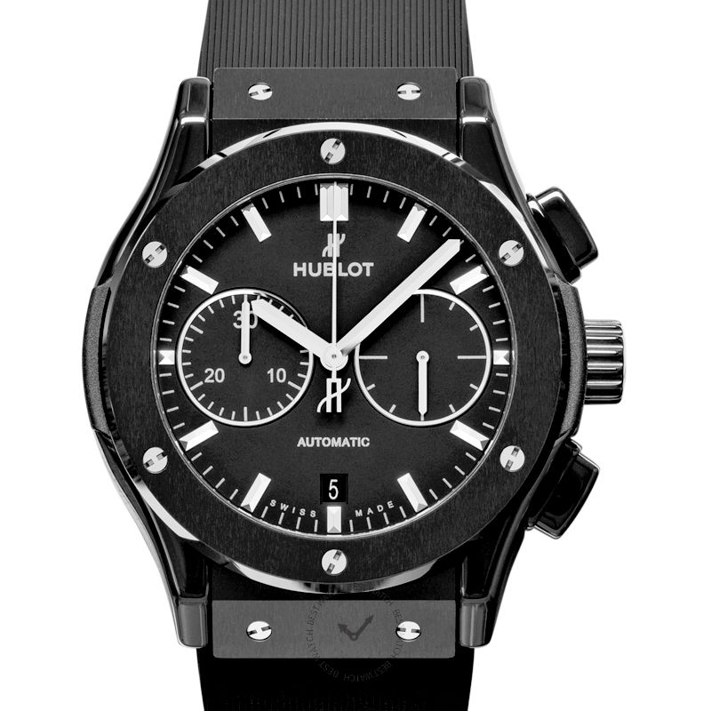 Hublot Classic Fusion Chronograph Black Magic Automatic Black Dial Ceramic Men's Watch