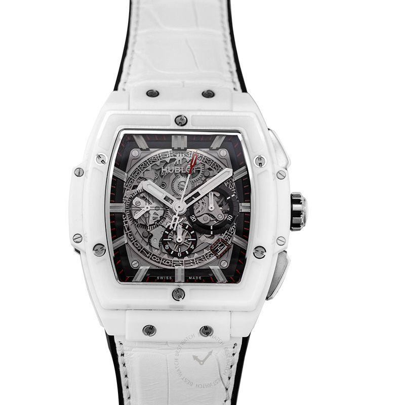 Hublot Spirit Of Big Bang White Ceramic Automatic Skeleton Dial Ceramic Men's Watch