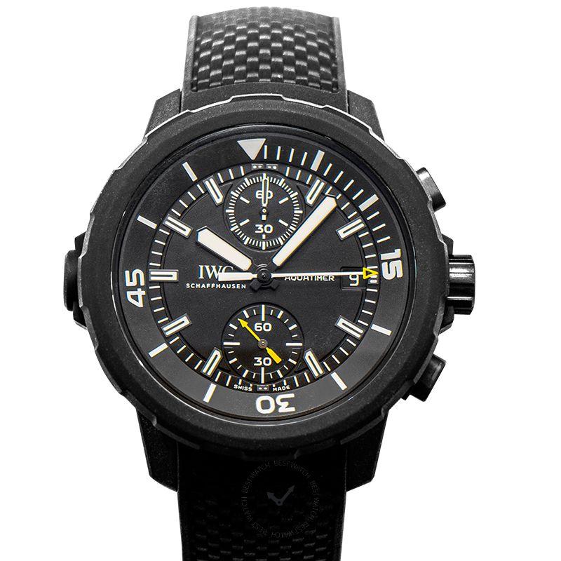IWC Aquatimer Chronograph Edition Galapagos Islands Automatic Black Dial Men's Watch