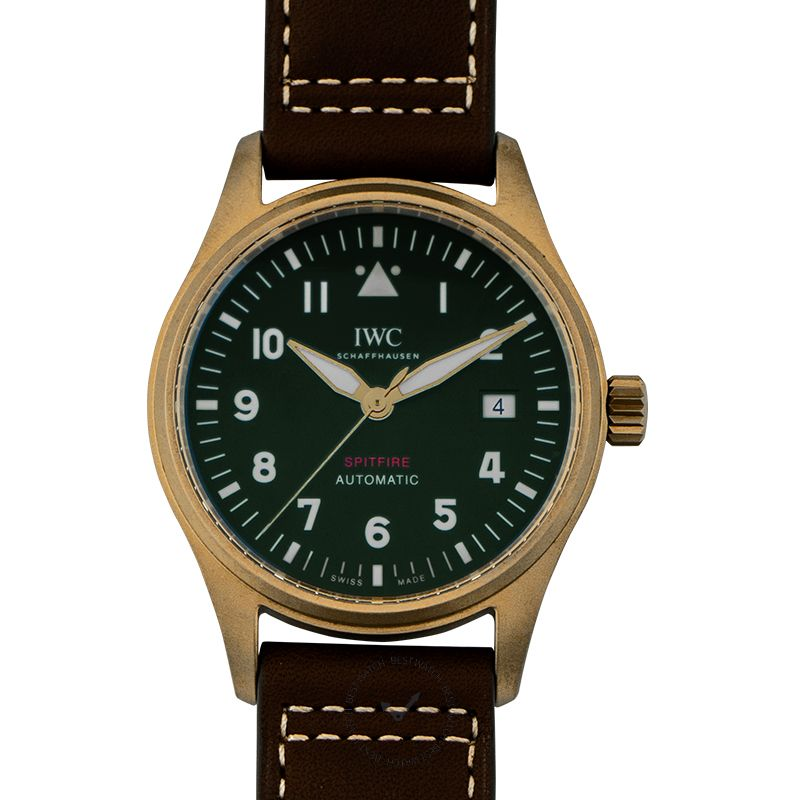 IWC Pilot's Watch Automatic Spitfire Automatic Green Dial Men's Watch
