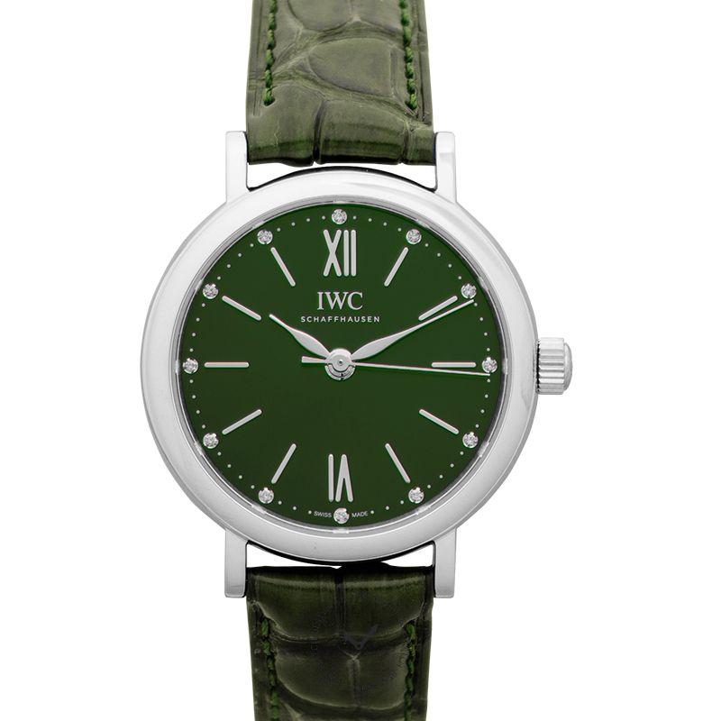 IWC Portofino Automatic 34 Automatic Green Dial Ladies Watch