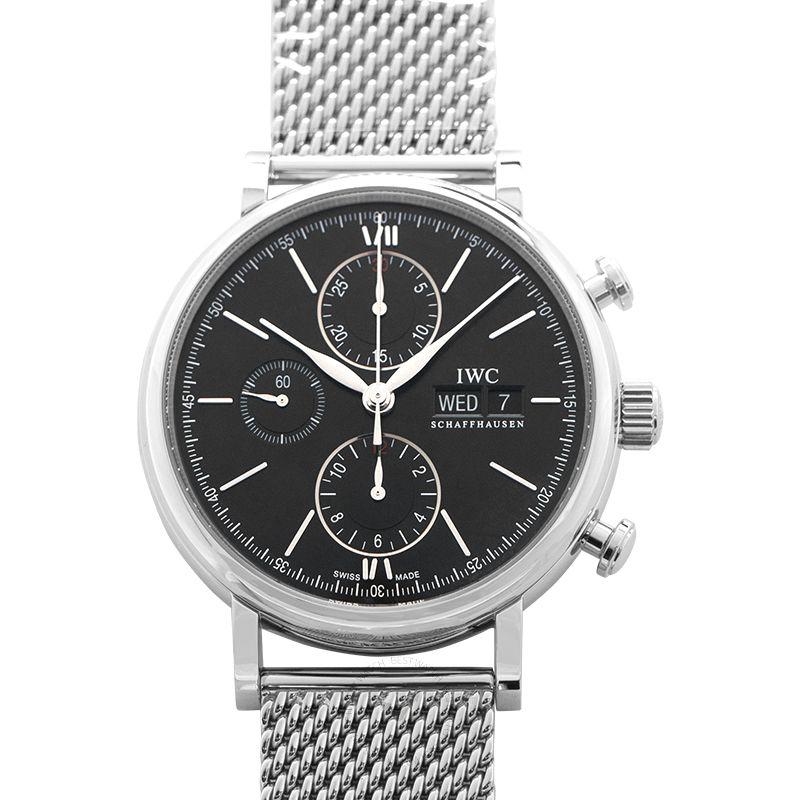 IWC Portofino Chronograph Automatic Black Dial Men's Watch