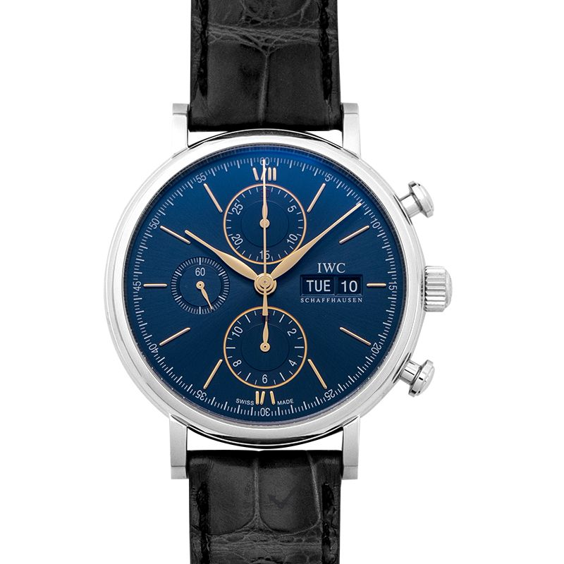 IWC Portofino Chronograph Automatic Blue Dial Men's Watch