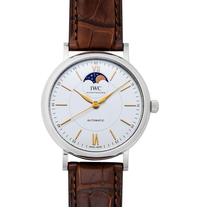 IWC Portofino Automatic Moon Phase Automatic Silver Dial Men's Watch