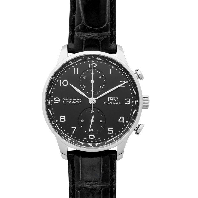 IWC Portugieser Automatic Chronograph Black Dial Men's Watch