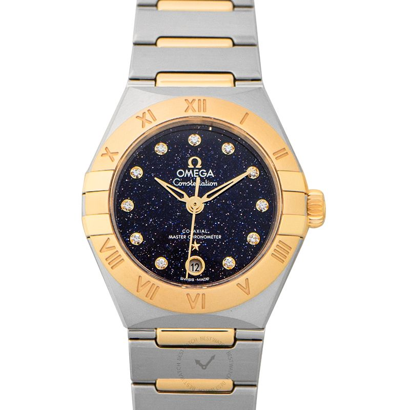 Omega Constellation Co-Axial Master Chronometer 29mm Automatic Blue Dial Diamond Ladies Watch