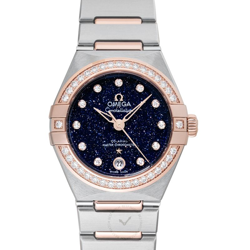 Omega Constellation Co-Axial Master Chronometer 29 mm Automatic Blue Dial Diamond Ladies Watch