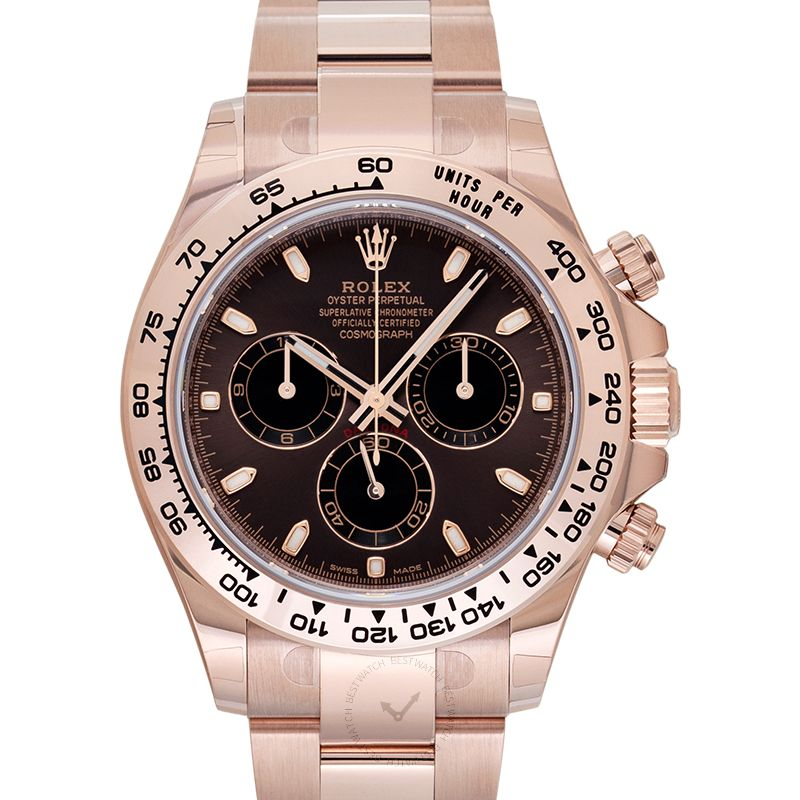Rolex Cosmograph Daytona Automatic Brown Dial 18 ct Everose Gold Men's Watch