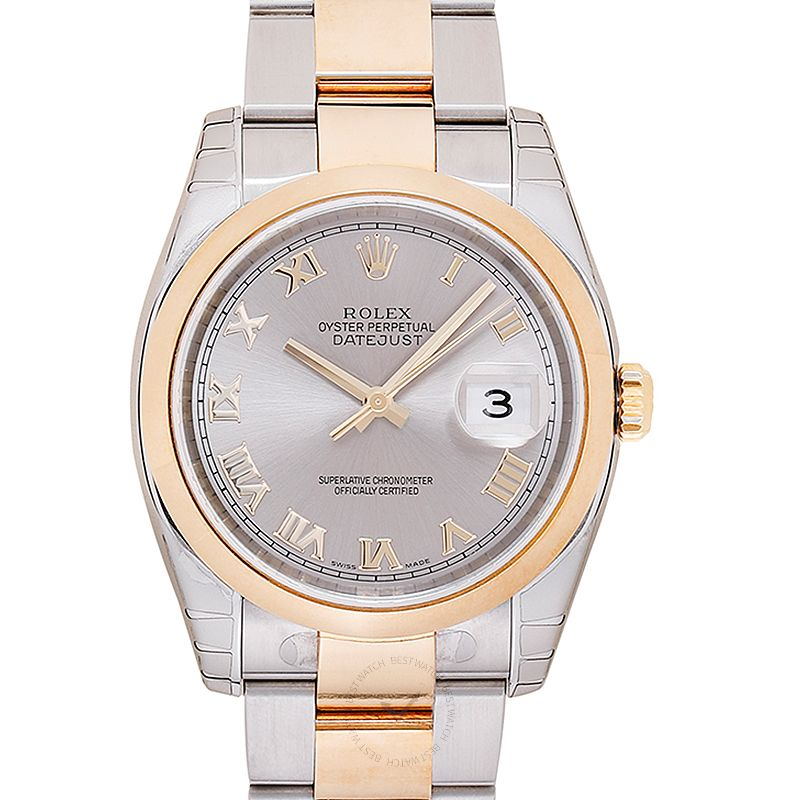Rolex Rolex Datejust Rhodium Dial Steel and 18K Yellow Gold Automatic Men's Watch 116203
