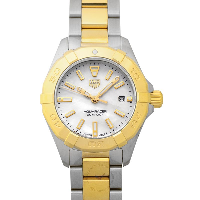 TAG Heuer Aquaracer Quartz White Mother of Pearl Dial Ladies Watch