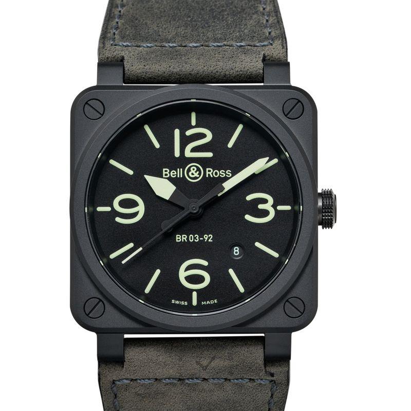 柏莱士 Instruments腕錶系列 BR0392-BL3-CE/SCA
