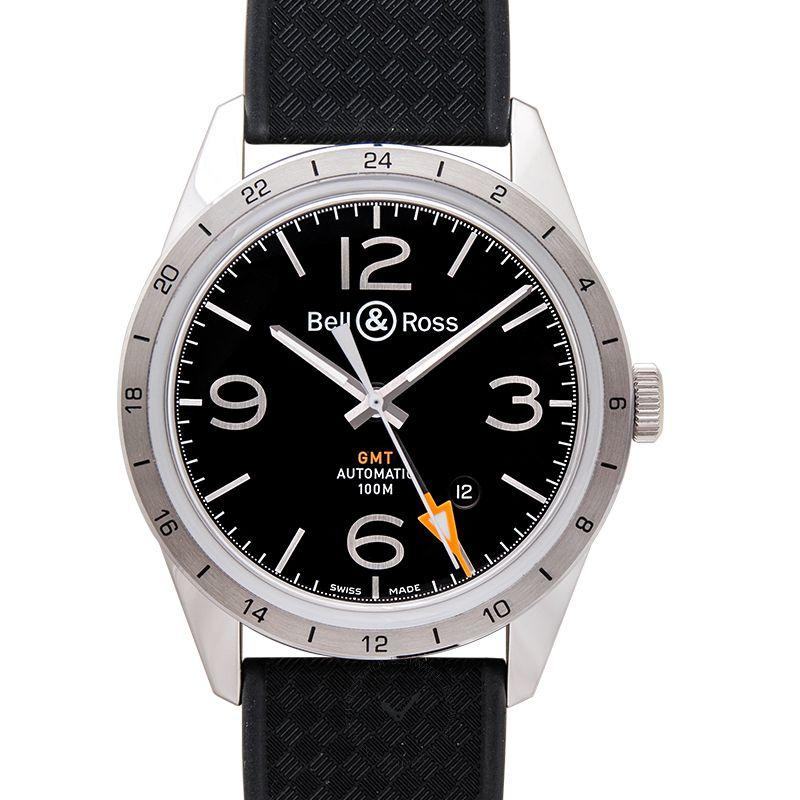 柏莱士 Vintage腕錶系列 BRV123-BL-GMT/SRB