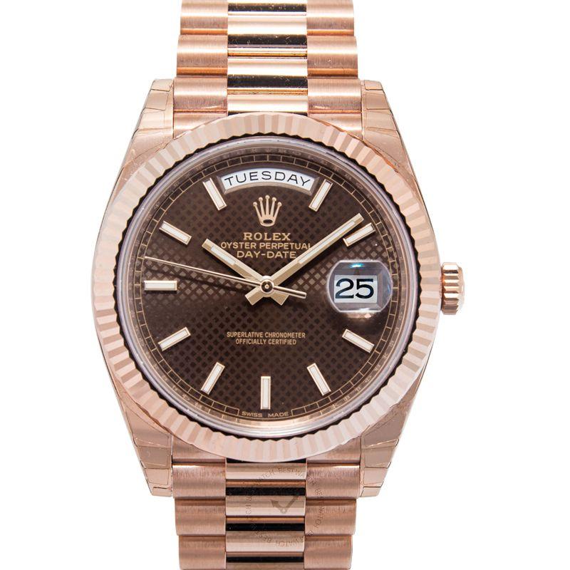 勞力士 星期日曆型 DayDate腕錶系列 228235 Choco-Diagonal