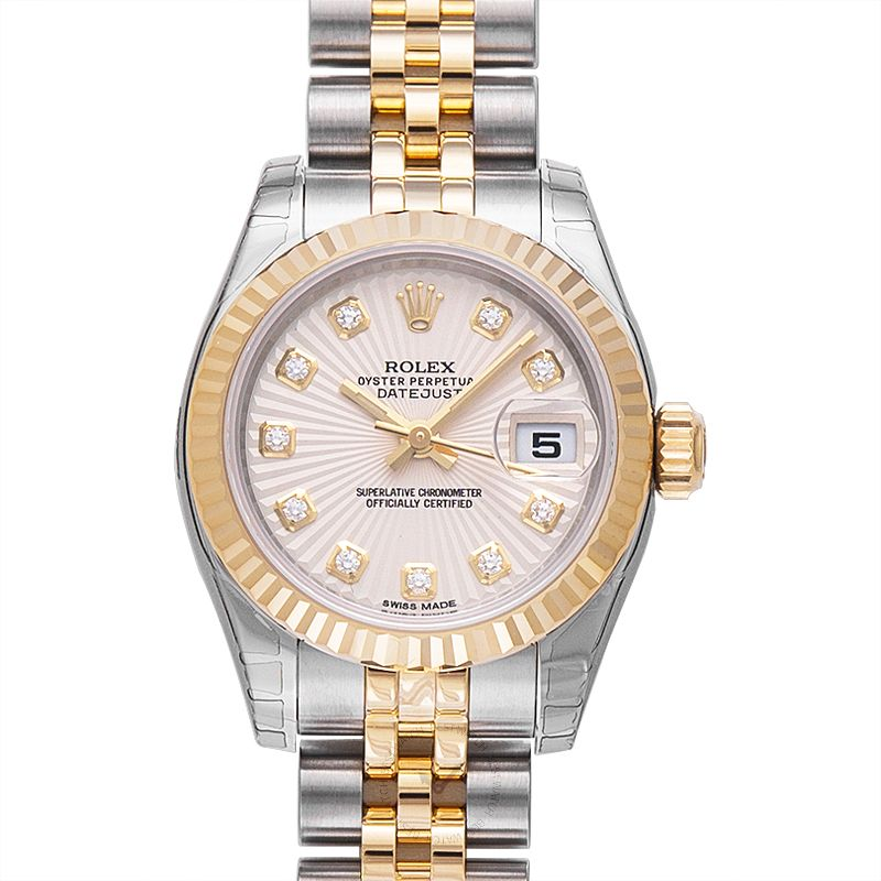 Rolex Lady Datejust 179173-Champ-G-J